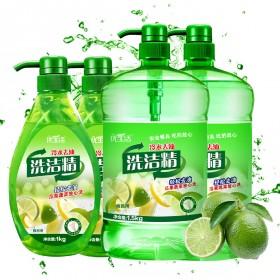[3斤食品级冷水去油腻]青柠檬洗洁精餐具清洁剂