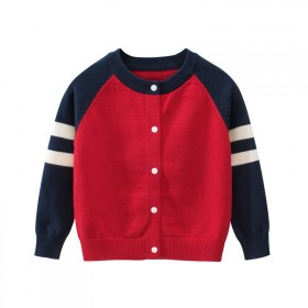 婴儿针织衫开衫秋装春秋潮童装宝宝儿童男童毛衣外套1