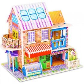 儿童益智3d立体拼图纸质玩具 热卖爆款房屋别墅 飞