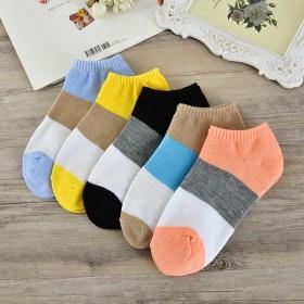 袜子女短袜浅口代销赠袜子短女士糖果色纯色女士船袜