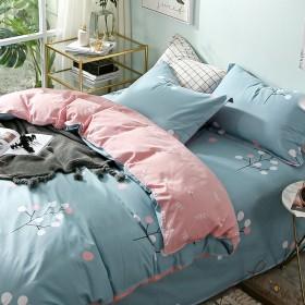 全棉网红四件套床上用品纯棉被套床单ins风三件套
