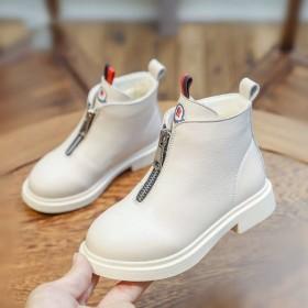 女童加绒马丁靴亲子鞋秋冬季儿童靴子英伦风短靴童鞋