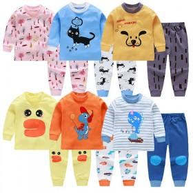 新款童装内衣套装纯棉中小童秋衣秋裤婴儿睡衣家居服