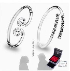 纯银紧箍咒手镯女情侣一对金箍棒送男友至尊宝小众设计