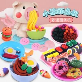 儿童理发师彩泥玩具套装无橡皮泥模具面条机雪糕机