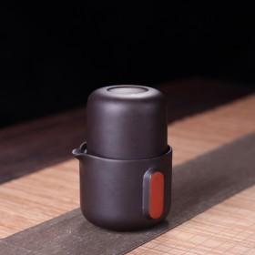紫砂旅行茶具套装一壶一杯快客杯便携户外随身茶壶
