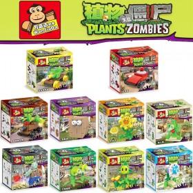 植物大戰僵尸樂高積木拼裝玩具