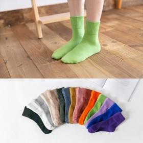 秋冬新款袜子女百搭中筒袜子