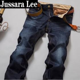 冬季加绒保暖男士牛仔裤修身弹力加厚长裤