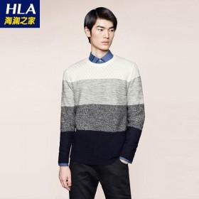 海澜之家含羊毛针织衫男装长袖打底衫男套头毛衫47A