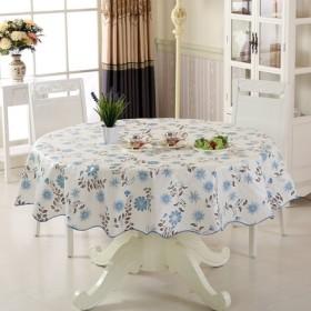 田园仿PVC免洗防油桌布圆桌方桌防水易擦茶几台布