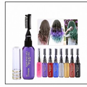 染发棒一次性染发一梳上色彩色不易掉色可清洗染发梳子