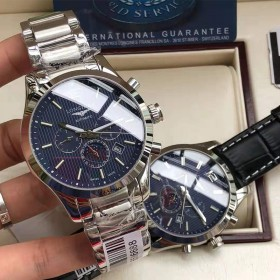 浪琴康铂系列全自动机械男表 进口球型蓝宝石镜面手表