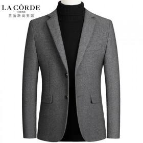 男装秋冬季男士外套羊毛呢小西装商务休闲夹克外套