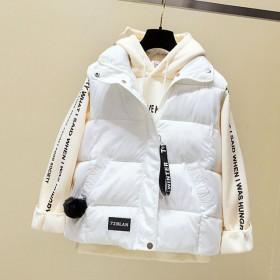 冬季新款韩版时尚短款棉服马甲棉背心立领宽松学生女