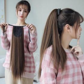 假发直马尾长直发马尾女中长发扎发捆绑式仿真自然蓬松