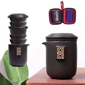 功夫旅行茶具套装便携包快客杯一壶两二四杯小套礼品茶