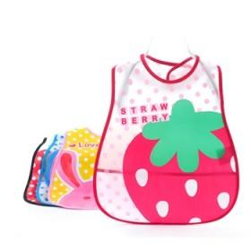 3个装1-6岁宝宝罩衣小孩绘画吃饭防水反穿儿童围裙