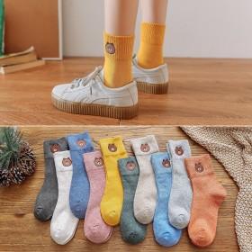 袜子女秋冬季中筒袜韩版短袜女士学生袜日系风长筒袜