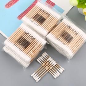 双头清洁掏耳朵一次性棉签 亲肤干净卫生家用木质化妆