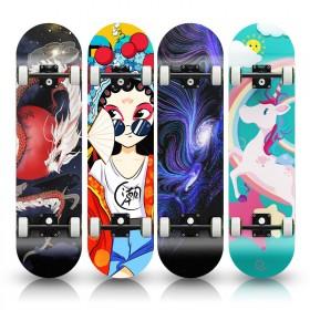 四轮滑板初学者成人男孩女生青少年成年儿童专业双翘滑