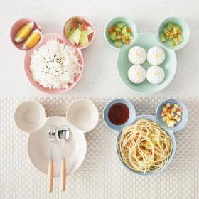 卡通儿童秸秆餐具 碗创意宝宝餐盘水果碗米奇小麦