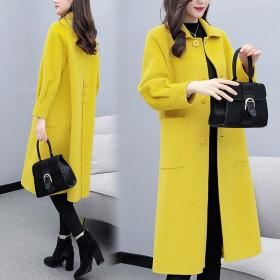 反季清仓毛呢外套女中长款韩版新款呢子大衣冬季