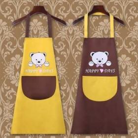 好女人珊瑚绒擦手围裙罩衣围裙女厨房工作服女做饭防水
