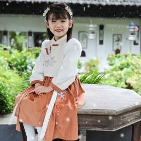 儿童汉服女童古装2019年秋冬新款原创古风连衣裙