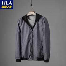 品牌男装双面穿夹克时尚舒适修身短款夹克外套316A
