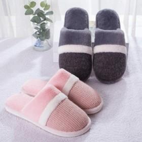 情侣新款棉拖鞋女室内家用简约厚底防滑