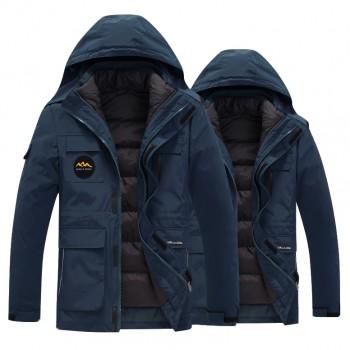 两件套冲锋衣防风防水防寒服登山服滑雪服棉服外套