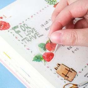 创意文具可爱花鸟动物贴纸组合透明手帐相册