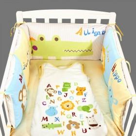 彩色ins鳄鱼婴儿床床围边棉儿童拼接床婴儿软包布艺