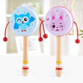 【可啃咬】拨浪鼓婴儿传统木质玩具