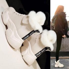 雪地靴子2019新款女鞋冬季加绒棉鞋