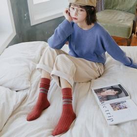 【甄炫】羊毛堆堆袜女秋冬保暖