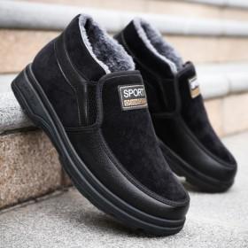 老北京棉布鞋男加絨加厚保暖防滑中老年爸爸鞋