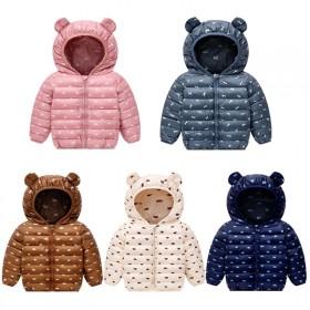 耳朵款儿童棉服中小童加厚羽绒棉衣婴幼儿花色保暖外套
