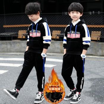 【筠依衣】童装男童套装冬装金丝绒双面绒加厚两件套