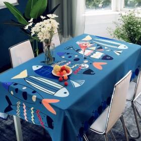 26款可选桌布现代布艺防水防烫餐桌茶几垫长方形桌布
