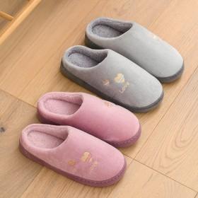 新款爱心情侣棉拖鞋女冬季居家室内保暖棉拖男地板拖防