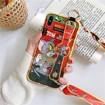 猫和老鼠苹果x手机壳11promax腕带挂绳斜跨
