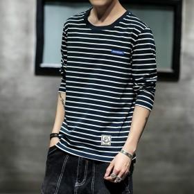 男士純棉韓版修身長袖T恤