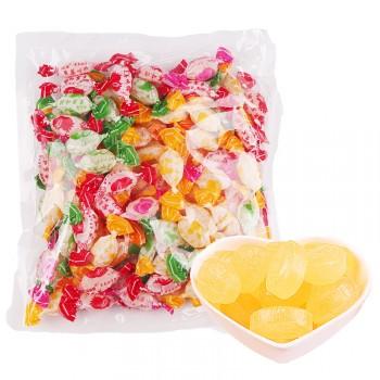 老式怀旧水果糖草莓味混合糖果硬糖1斤