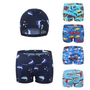 儿童泳裤男中大童游泳衣宝宝男童小童平角游泳裤泳衣套