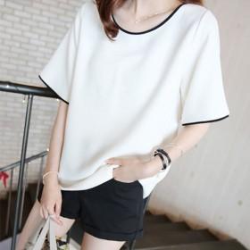 2019韩版夏季新款显瘦女上衣大码宽松短袖T恤