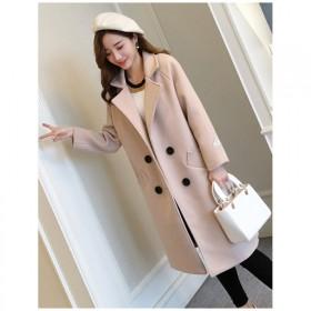 學生毛呢外套女加厚呢子大衣女中長款韓版新款學生外套