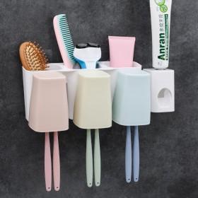 牙刷架吸壁式牙膏盒刷牙杯套装牙具漱口杯洗漱壁挂吸盘