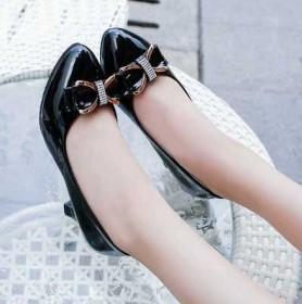 新款單鞋女鞋子低幫鞋韓版時尚學生甜美女性職業工作鞋